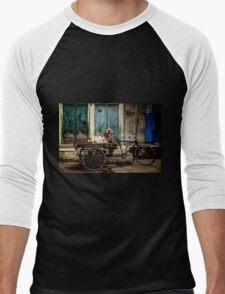 Goat on Wheels Men's Baseball ¾ T-Shirt
