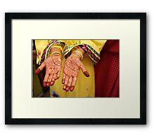 Mehendi in Udaipur Framed Print