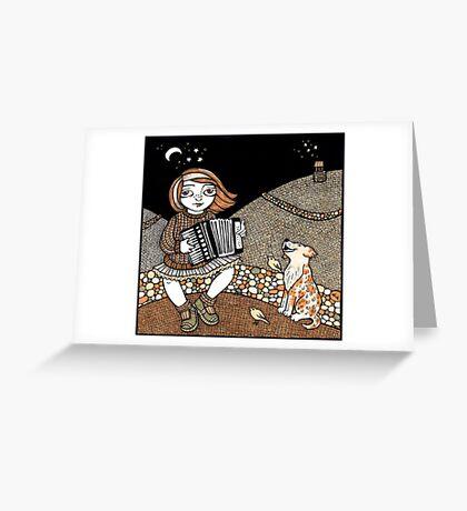 Annie's Accordian Greeting Card