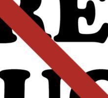 No Free Hugs Sticker