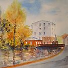 The water mill - River nr Dover by Beatrice Cloake Pasquier