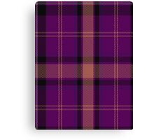00527 Black Rose Tartan  Canvas Print