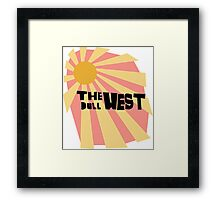 the dull west Framed Print