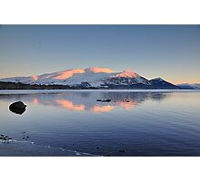 Sky Mountains and Water Photographic Print