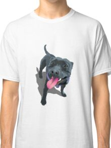 Staffy Lime Classic T-Shirt