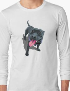 Staffy White Long Sleeve T-Shirt