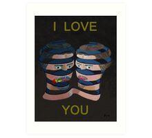 Mykonos Rose I Love You Art Print