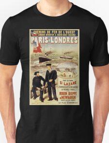 Gustave Fraipont Affiche Ouest Paris Londres T-Shirt