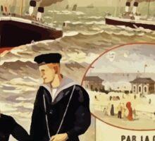 Gustave Fraipont Affiche Ouest Paris Londres Sticker