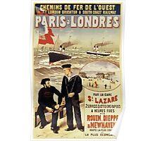 Gustave Fraipont Affiche Ouest Paris Londres Poster