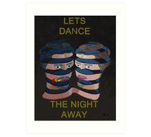 Mykonos Rose Lets Dance The Night Away Art Print