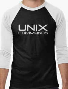 UNIX Commands Men's Baseball ¾ T-Shirt