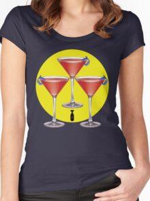 atomic martini sunrise Women's Fitted Scoop T-Shirt