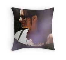 Through the lavender at Royaumont Abbey Throw Pillow