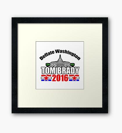 Tom Brady 2016 Framed Print