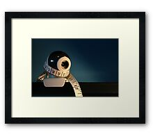 Weight Watching Framed Print