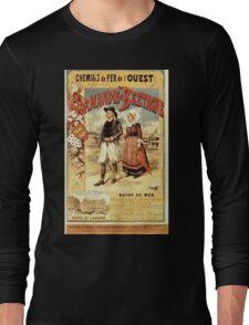Gustave Fraipont Affiche Ouest Normandie & Bretagne Long Sleeve T-Shirt