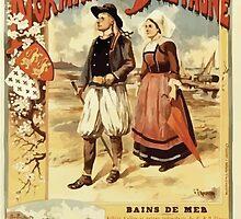 Gustave Fraipont Affiche Ouest Normandie & Bretagne by wetdryvac