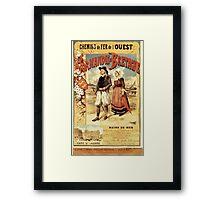 Gustave Fraipont Affiche Ouest Normandie & Bretagne Framed Print