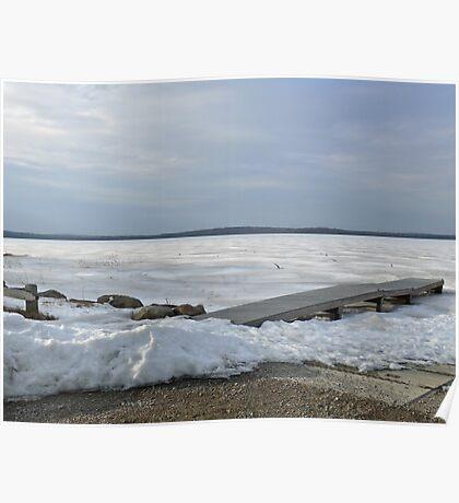 Winter Sun On Worden's Pond - Series 2011 - Poster