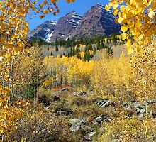 Fall Splendor Maroon Bells by Ken Fleming