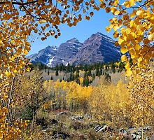 Fall Splendor Maroon Bells - Two by Ken Fleming