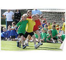 School Sports Day - The Three-Legged Race Poster