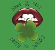 Have A Happy - Shamrock Lips Shirts by Lotacats