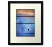 Skyline Birds Framed Print