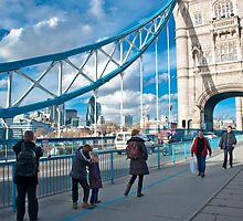 Across Tower Bridge: London, England. by DonDavisUK
