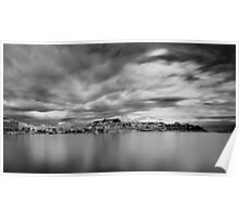 Panorama in Black N White Poster