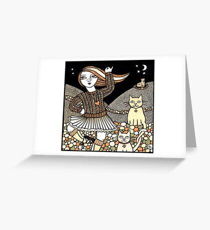 Fiona's Highland Fling Greeting Card