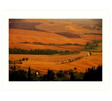 Tuscany panorama Art Print
