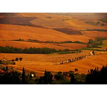 Tuscany panorama Photographic Print
