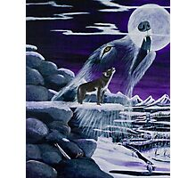 Moon Howl - Prints & Posters Photographic Print
