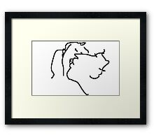the kiss -(260211)- mouse drawn/ms paint Framed Print