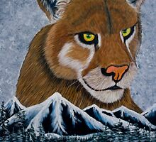 Mountain Lion - Greeting Cards by richardyoung1