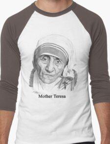 Mother Teresa Men's Baseball ¾ T-Shirt