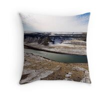 the dropzone Throw Pillow