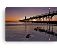 Seal beach pier Canvas Print