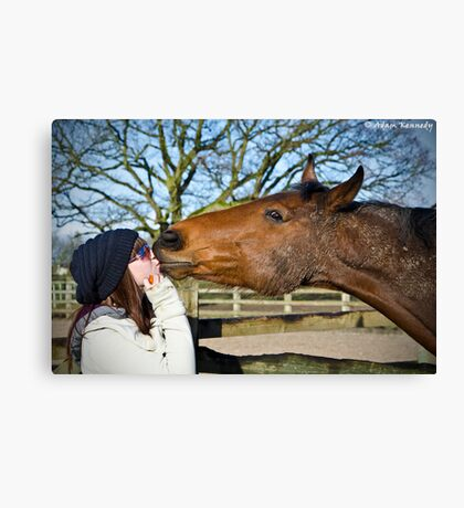 A Loving Kiss Canvas Print