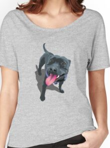 Staffy Aqua Women's Relaxed Fit T-Shirt