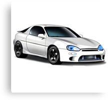 Mazda MX-3 (White car, big text)  Canvas Print