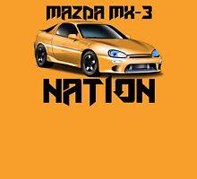 Mazda MX-3 NATION (Big text [black font])  Unisex T-Shirt