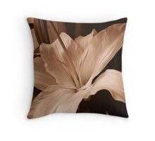 Lily In Sepia Throw Pillow
