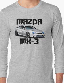 Mazda MX-3 (White font, big text)  Long Sleeve T-Shirt