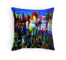 Reeds at the Beach Throw Pillow