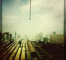Buidling a skyscraper, Hong Kong by Cara Gallardo Weil