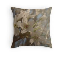 Pear Tree Blossoms Throw Pillow
