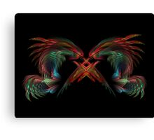 Dueling Dragons Canvas Print